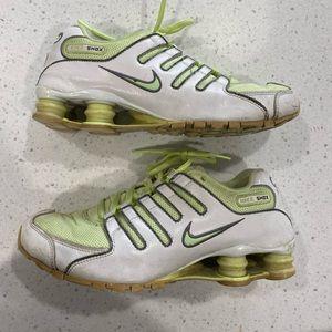 Lime green women's Nike shox